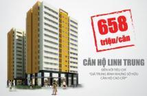 Bán căn hộ Linh Trung, TT 50% nhận nhà ở ngay, còn lại cho trả ghóp trong vòng 5 năm.