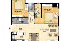Cần bán căn hộ Thanh Đa View 70m2, đã có nhà, giá 2 tỷ, LH 0908725072