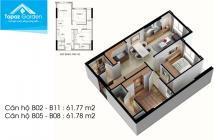 Căn hộ Topaz Garden - căn rẻ nhất Topaz: DT 63 m2, giá 2.1 tỷ. LH: 0902456404
