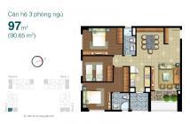 Bán căn hộ quận 2 Lexington Residence diện tích 97m2 3 phòng ngủ nội thất cơ bản thoáng mát