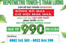 Căn hộ liền kề sân golf và sân bay Tân Sơn Nhất, giá chỉ 990tr/căn, LH: 0932044599