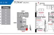 Bán căn hộ Him lam Riverside Quận 7, 71 m2, 2 PN, 2 WC, đầy đủ nội thất, lầu cao, view đẹp. 2.9 tỷ