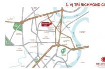 Bán căn hộ Richmond City, mặt tiền Nguyễn Xí, ngay chân Cầu Đỏ, chỉ 1.6 tỷ/căn. CK cao từ CĐT