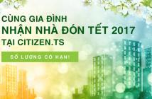 Căn hộ Citizen khu Trung Sơn nhận nhà hoàn thiện tháng 12/2016 - 2,2 tỷ/82.93m2, CK giờ vàng 130tr