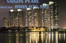 Bán CH Saigon Pearl 2PN, view Manor, tầng cao, đủ nội thất- Hotline: 0908 078 995