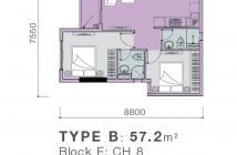 Bán căn hộ 2pn 2 toilet 1,1 tỷ gần Vivo City, Q7