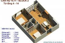 Chỉ còn 1 căn 58m2 2pn 2Wc căn hộ Tân Bình giá 1.1 tỷ có VAT