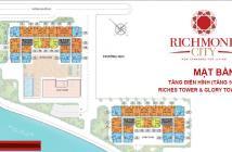 Bán CH Richmond City ở trung tâm quận Bình Thạnh, MT Đ.Nguyễn Xí, CK lên đến 18%, hỗ trợ vay 70%