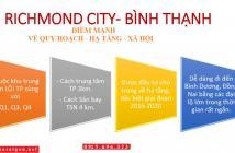 Giá từ 900tr căn hộ 1PN, Nguyễn Xí, Q. Bình Thạnh, Richmond City. CK 18%, tặng 1 năm phí QL