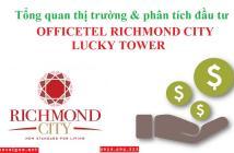 Dự án Richmond City mở bán tòa Officetel Lucky Tower giá từ chỉ 939tr/căn ngay, Nguyễn Xí, Q. BT