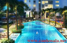 Bán CHCC Sala Sadora, 2PN view hồ bơi, lầu 10, giá thấp hơn CĐT, 3.8 tỷ. LH 0903185886
