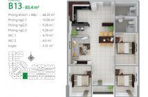 Bán CH 8X Đầm Sen, nhà mới nhận bàn giao, ở ngay, chỉ 880tr 1 phòng, căn 3 phòng 85m2 thì 1,45 tỷ