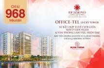 Officetel Richmond City điểm đến đầu tư, an cư chỉ từ 939tr/căn, LH CĐT 0933855633