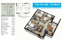 Cần bán căn hộ Topza Center, dt 84m2, 3PN, căn góc, giá 1.85 tỷ. LH: 0902.456.404