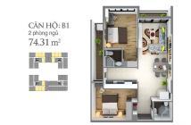 Thanh lý căn 2PN 74m2, căn hộ cao cấp gần sân bay Tân Sơn Nhất, nội thất cao cấp giá 2,6 tỷ