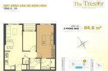 Cần bán căn hộ Tresor CĐT Novaland, 3,5 tỷ/2PN giao nhà hoàn thiện cơ bản