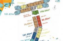 Cần bán căn 2PN Krista 70m2, giá 2.150 tỷ, tầng cao, view thoáng. LH 0938 658 818