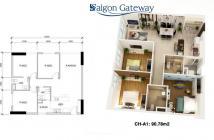 Căn hộ chung cư Saigon Gateway, mặt tiền Xa Lộ Hà Nội, Q9, diện tích 53m2. LH 0909 21 79 92