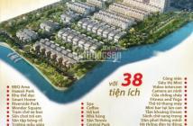 Bán căn hộ bàn giao thô giá chỉ 26tr/m2 trong khu biệt thự ven sông khép kín:lh 091.56.57.438