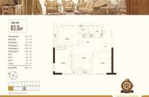 Cần bán căn góc 3PN (83m2), tầng 7 view sông Bến Nghé, sắp giao nhà