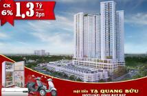 Căn hộ mt Tạ Quang Bửu giá chỉ từ 1,38 tỷ, thanh toán 25% cho đến khi nhận nhà. LH: 0912.275.753