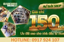 Bán shop giá rẻ chỉ 150tr , Liên Hệ Chủ Đầu Tư : 0917924107