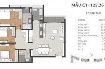 Bán gấp căn hộ 3PN Sarimi, KDT Sala. DT 125m2, 6,2 tỷ, LH 093.7768.555