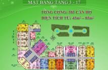 Căn hộ 8X Đầm Sen, mặt tiền đường Tô Hiệu, DT 45m2, nhận nhà trong năm, 880tr bao VAT