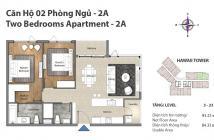 Bán căn hộ Đảo Kim Cương quận 2, tháp Hawaii, căn 2 PN, 91 m2, H-22.08, view hồ bơi rất đẹp, 4.6 tỉ