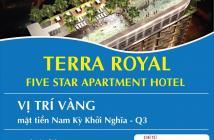 Bán căn hộ Terra Royal khách sạn 5* tại trung tâm quận 3, chỉ với 3,9 tỷ, 58m2, 2PN