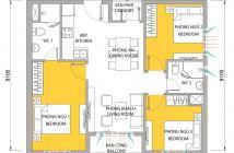 Bán lại căn hộ M-One gần Lotte, quận 7, 3PN, 2WC, giá bán 2.4 tỷ bao phí, lầu cao, view thoáng
