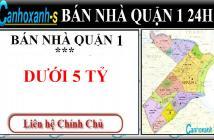 Bán nhà HXH Trần Hưng Đạo quận 1, DT 92m2, giá 4,25 tỷ, sổ hồng chính chủ 2013 - 0911985454.