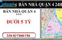 Bán nhà quận 4 Đoàn Văn Bơ, DT 36,5m2, giá 2,2 tỷ, sổ hồng chính chủ lh 0911985454.