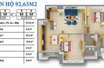Bán căn 2PN 92m2 chung cư 12 View, giá 17 tr/m2