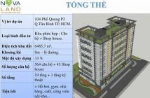 Chuyển nhượng gấp căn hộ 2PN, 73m2, 2,72 tỷ, dự án The Botanica Tân Bình