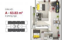 Giao nhà trước tết 2018 .DT 64m2/2pn/2wc.Gía 1,6ty (VAT).LH 0932 659 051 Ms Nhàn
