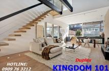 Bán căn hộ duplex Kingdom 101 MT Tô Hiến Thành, Q10 view hồ bơi cực đẹp chỉ 78tr/m2, LH: 0909763212