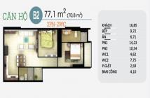 Căn hộ Oriental Plaza Q Tân Phú, 77m2, 2PN, giá 1.95 tỷ, thanh toán 30% nhận nhà. LH 0983787293