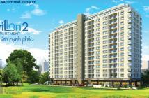 Cho thuê căn hộ carilon 2, 2PN,nội thất đầy đủ, lầu cao, dt 69m2, giá 9.5tr/tháng