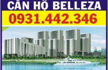 Cho thuê chung cư Belleza, dt 105m2, 3pn + 2wc, full nội thất, giá 10tr