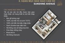 Sunshine Avenue 1.1 tỷ/căn ,view đẹp bàn giao NT cao cấp,TT 180TR,sổ hồng vĩnh viễn LH: 0906868705