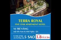 Căn hộ Terra Royal khách sạn 5* trung tâm quận 3, chỉ với 3,8 tỷ/58m2/2PN nhận ngay Chiết khấu 3%