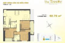 Kẹt tiền bán gấp căn hộ Tresor 3 phòng ngủ 93m2, view Q1,giá chỉ 5ty150. LH 0935632741