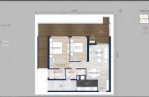 Chuyển nhượng căn hộ Feliz En Vista sân vườn tháp Cruz, 2 phòng ngủ , 121m2
