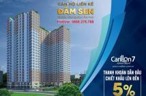 Bán đợt đầu căn hộ Carillon7 - 1,8 tỷ/2 PN - Ngay Đầm Sen - CK ngay 5%. LH: 0913.65.67.38