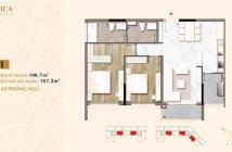 Bán căn hộ Sarica 2 phòng ngủ, khu đô thị Sala. Diện tích 107m2, view Bitexco