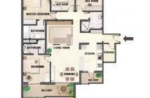 Cần tiền bán nhanh trong tháng căn hộ River Garden, 156m2, 4pn, view sông