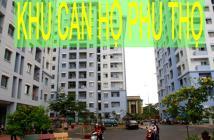 Bán gấp căn hộ chung cư Phú Thọ, Q.11, 62m2, 2pn, toilet, nhà đã sửa đẹp hoàn thiện giá 1.85 tỷ