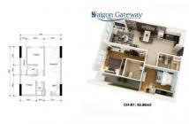 Bán căn hộ Sài Gòn Gateway giá tốt, mặt tiền xa lộ Hà Nội 2 PN giá rẻ.HB:0915 5566 72
