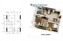 Bán gấp căn hộ Sài Gòn Gateway mặt tiền Xa Lộ Hà Nội, liên hệ ngay để xem nhà: 0915556672